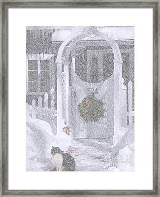Our Front Gate Framed Print by Cheryl Butler