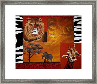 Out Of Africa Framed Print by Susan McLean Gray