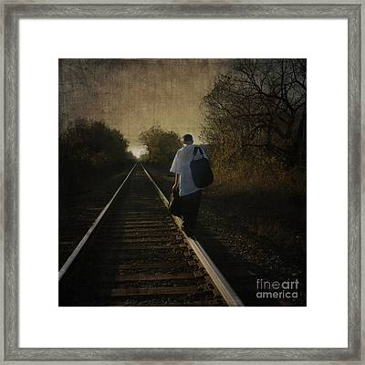 Out Of The Darkness Framed Print by Betty LaRue