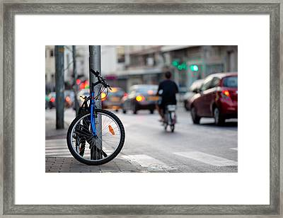 Out Of Traffic Jam Framed Print by Victor Bezrukov