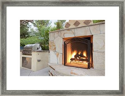 Outdoor Patio Living Space Residential Framed Print by Bryan Mullennix