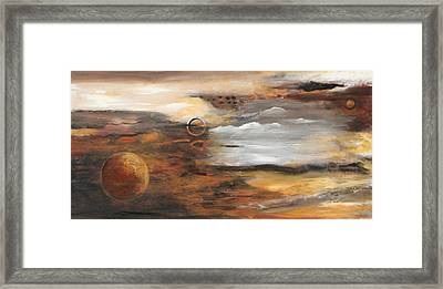 Outer Moons Framed Print by Lauren  Marems