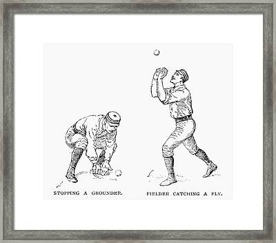 Outfielder, 1889 Framed Print by Granger
