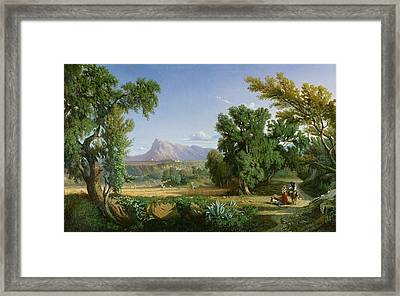 Outskirts Of Valdemusa Framed Print by Adolphe Paul Emile Balfourier