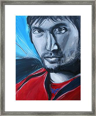 Ovechkin Framed Print by Kate Fortin