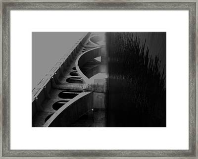 Over The Bridge Framed Print by JC Photography and Art
