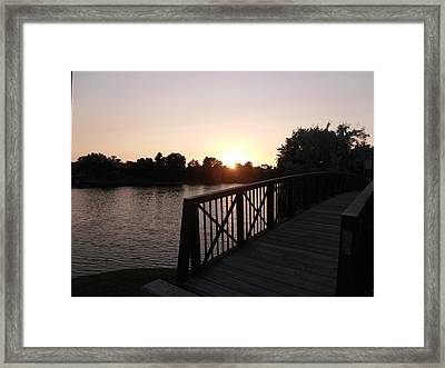 Over The Bridge Sunset Framed Print by Brian  Maloney