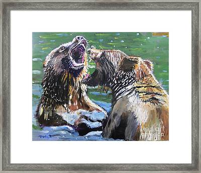 Overbearing Framed Print by Judy Kay