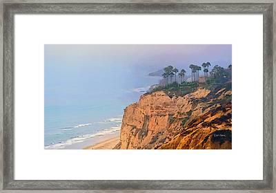 Overlooking Black's Beach La Jolla Framed Print by Russ Harris