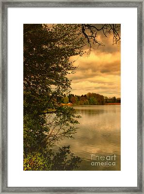Overlooking The Lake Framed Print by Jutta Maria Pusl