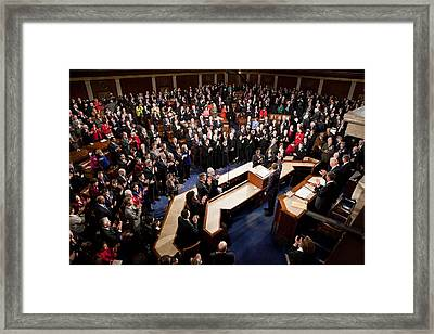 Overview Of The House Chamber Framed Print by Everett