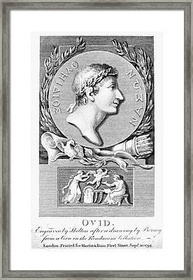 Ovid (43 B.c.-?17 A.d.) Framed Print by Granger