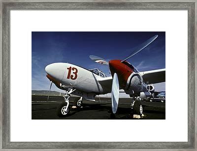 P-38 Lightning Lucky 13 Framed Print by Joe  Palermo