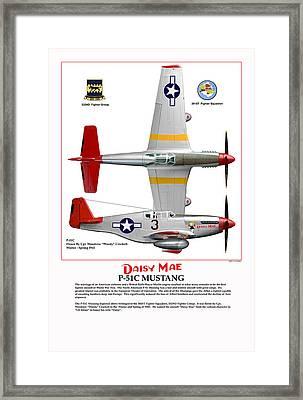P-51c Daisy Mae Framed Print by Jerry Taliaferro