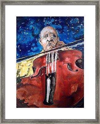 Pablo Casals Framed Print by Omar Javier Correa