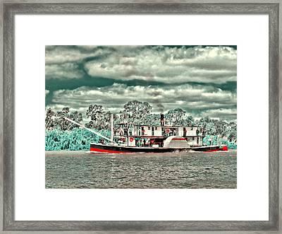 Paddle Steamer Framed Print by Douglas Barnard