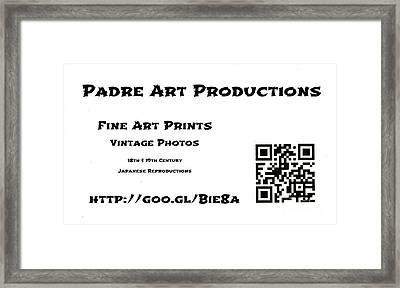 Padre Art Productions Qr Card Framed Print by Padre Art