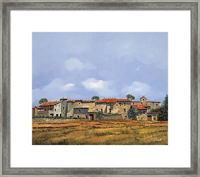 Paesaggio Aperto Framed Print by Guido Borelli