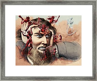Pain Framed Print by Omikron and Photo Researchers