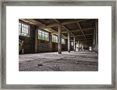 Paint And Concrete Framed Print by CJ Schmit