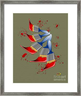 Paint Brushes Framed Print by Rod Seeley