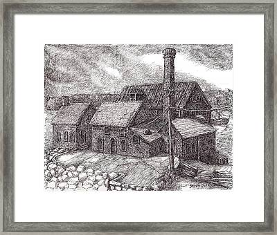 Paint Factory Rocky Neck Framed Print by Steve Breslow