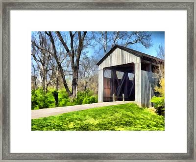 Painted Bridge Framed Print by Richard Wallace