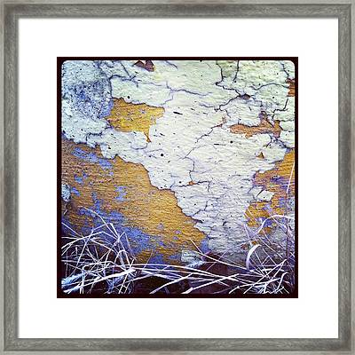 Painted Concrete Map Framed Print by Anna Villarreal Garbis