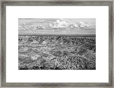 Painted Desert In B And W Framed Print by Melany Sarafis