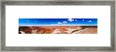 Painted Desert Wide Panorama Framed Print by David Waldo