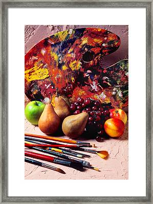 Painters Palette  Framed Print by Garry Gay