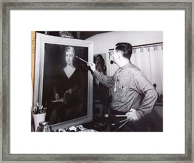 Painting A Portrait Framed Print by Bill Joseph  Markowski