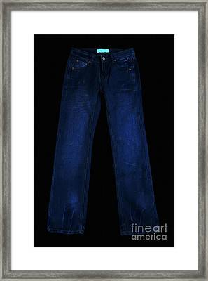 Pair Of Jeans 1 - Painterly Framed Print by Wingsdomain Art and Photography