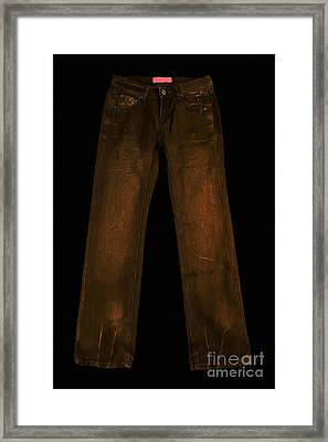 Pair Of Jeans 3 - Painterly Framed Print by Wingsdomain Art and Photography