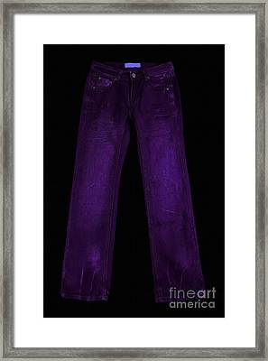 Pair Of Jeans 4 - Painterly Framed Print by Wingsdomain Art and Photography