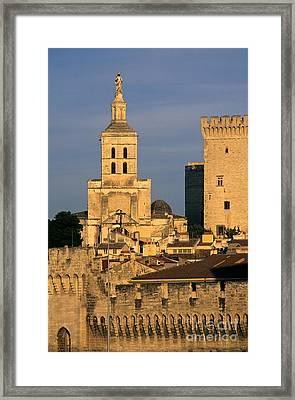 Palais Des Papes En Avignon. Framed Print by Bernard Jaubert