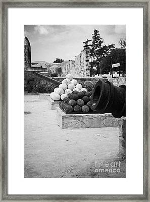 Palazzo Del Provedittore Royal Palace Entrance In The Old Town Of Famagusta Turkish Cyprus Framed Print by Joe Fox