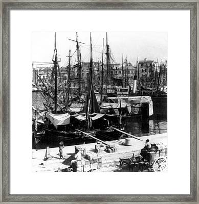 Palermo Sicily - Shipping Scene At The Harbor Framed Print by International  Images