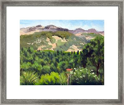 Palisades From Lerne Framed Print by Char Wood