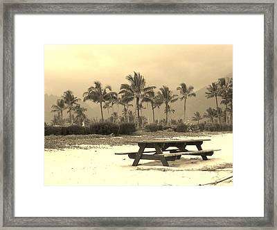 Palm Picnic Framed Print by Sharon Farris