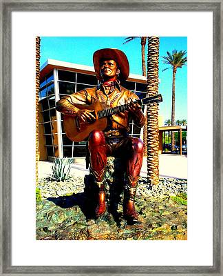 Palm Springs Gene Autry Statue Framed Print by Randall Weidner