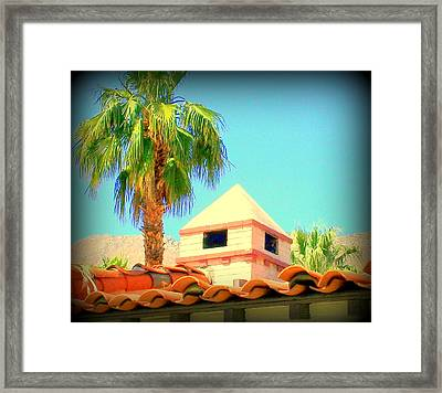 Palm Springs Pyramid Colonial Framed Print by Randall Weidner