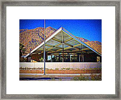 Palm Springs Visitor Center Tramway Gas Station Framed Print by Randall Weidner