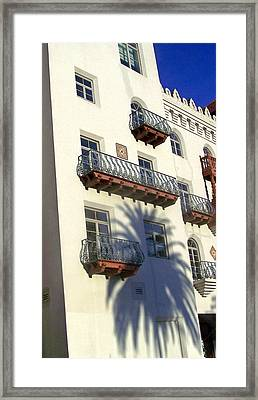 Palm Tree Shadow On The Wall Framed Print by Patricia Taylor