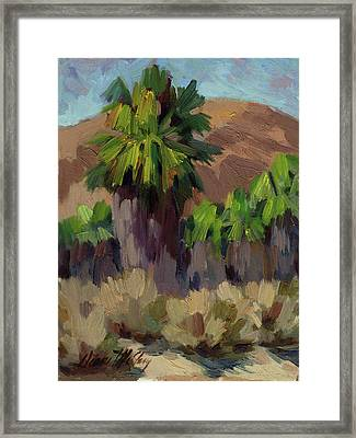Palms At San Andreas Framed Print by Diane McClary