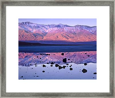 Panamint Range Reflected In Standing Framed Print by Tim Fitzharris