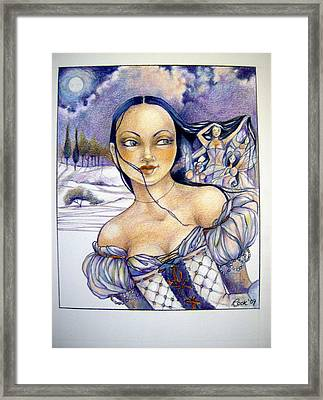 Pandora Framed Print by Jackie Rock