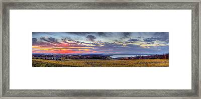 Panorama From Old Mission Peninsula Framed Print by Twenty Two North Photography