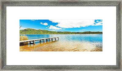 Panorama Lake Framed Print by MotHaiBaPhoto Prints