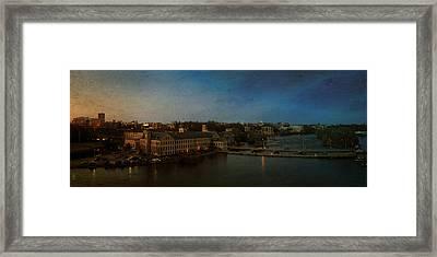 Panoramic Appleton Skyline Framed Print by Joel Witmeyer